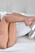 Amazing Brunette Girl Liza Rowe Strips Off Her Bikini 12