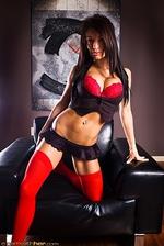 Angelina Red Bra 03