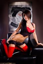 Angelina Red Bra 06