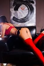 Angelina Red Bra 10