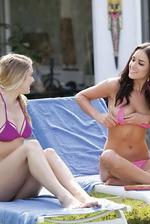 Rosie And Her Girlfriend Sunbathe 01