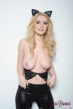 Jess Davies Bends Over Chair 08