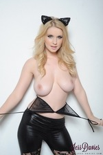 Jess Davies Bends Over Chair 09