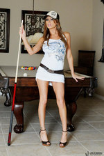Lisa Spreads Her Legs On The Pool Table 00