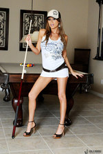 Lisa Spreads Her Legs On The Pool Table 03