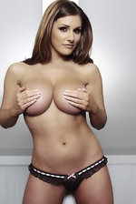 Lucy Pinder Posing Topless  02