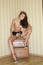 Petite Elegant Teen Naked Posing 16
