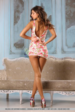 Brunette Beauty Melena Tara Stripping 07