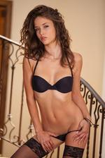 Malena Morgan Posing On The Stairs  01