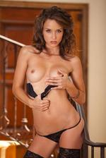 Malena Morgan Posing On The Stairs  05