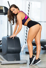 Abigail Mac Stripping In Gym 03