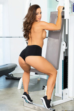 Abigail Mac Stripping In Gym 07