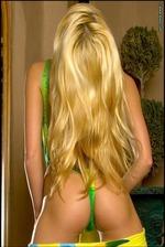 Ann Poll Green Bikini 06