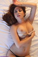 Shay Laren Lies Back On Her Bed 06