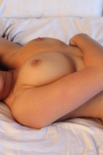 Shay Laren Lies Back On Her Bed 12