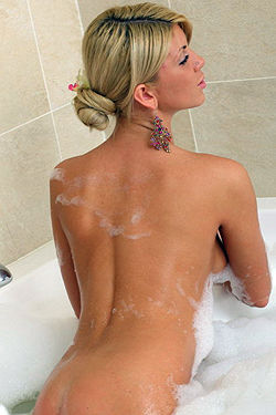 Milana In Sexy Bubble Bath