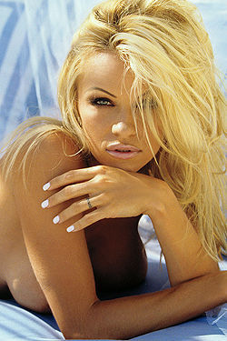 Outdoors Pamela Anderson