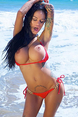 Angelina Valentine In Red Bikini