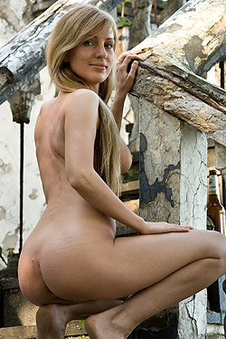Gisele On The Stairs