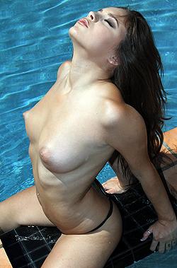 Nina James In Leopard Bikini