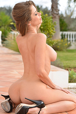 Emily Addison Posing Outdoor