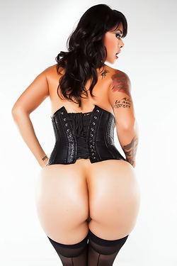 Hot Latina In Black Corset