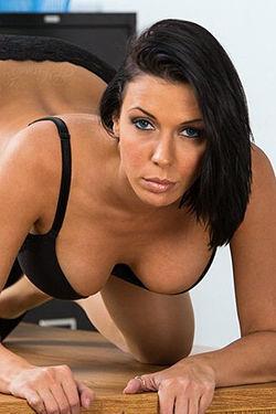 Chesty Office Lady Rachel Starr