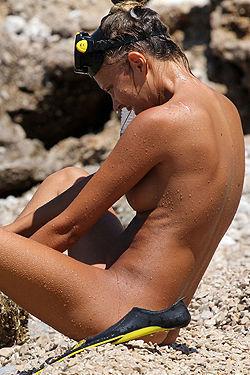 Nude Snorkeling