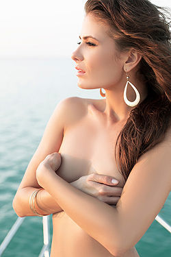Sexy Playmate On The Sea