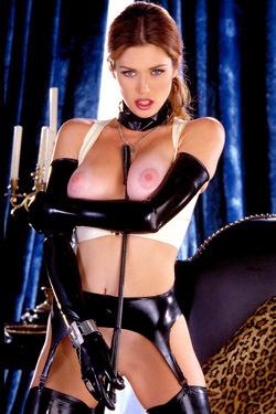 Pornstar Aimee Sweet Black Latex