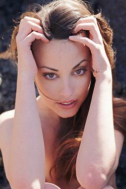 Lorena Naked Behind Rocks