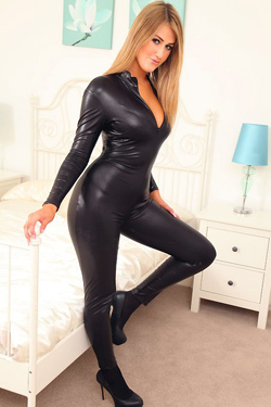 Lola A In Latex Catsuit