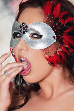 Beautiful Zoe Britton In Mask