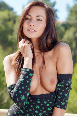 Michaela Isizzu Is Nude Outside