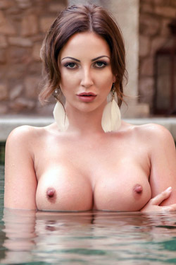 Cara Steel Swimming Topless
