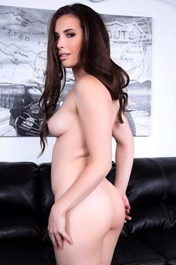 Hot Brunette Casey Calvert Strips Off Her Lingerie