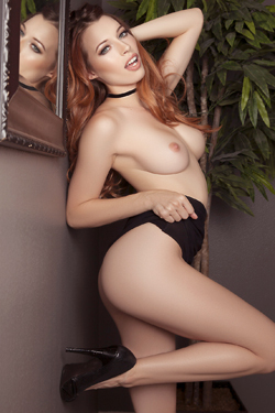 Cybergirl Caitlin McSwain Stripping At The Office