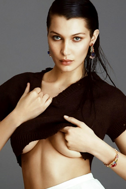Glamour Fashion Champion Bella Hadid Is Topless