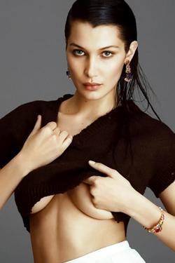 Glamour Fashion Champion Bella Hadid Is Topless