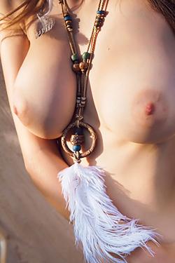 Busty Mila Azul Gets Nude In The Garden