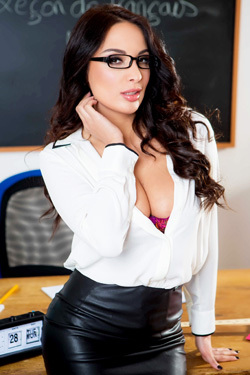 Busty Teacher Anissa Shows Her Body