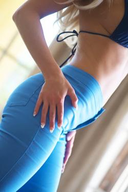 Fergie In Blue Jeans