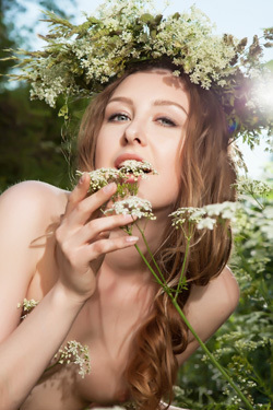 Ginger Frost Nude In The Nature