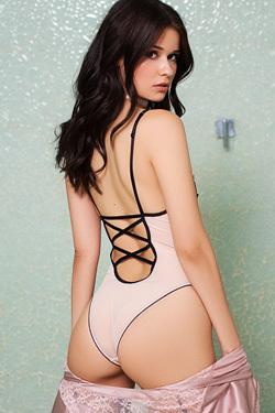 Salena Storm Strips Off Her Sexy Bodysuit