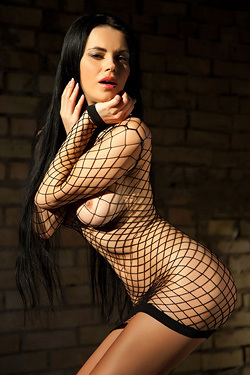 Ukrainian Beauty Mirela A In Fishnet