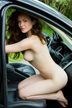 Estelle Strips In The Car