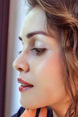 Attractive brunette Maria Espen